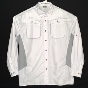 Reel Legends mens long sleeve fishing button shirt